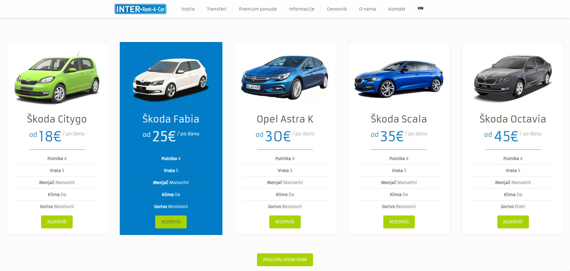 inter renta car izrada website-a