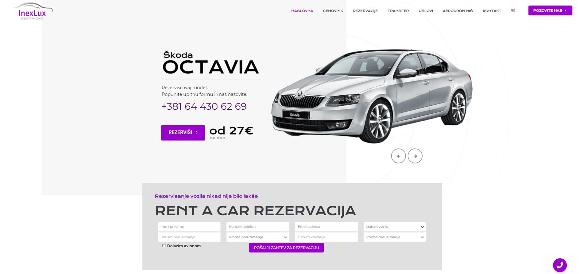 Inter rent a car web